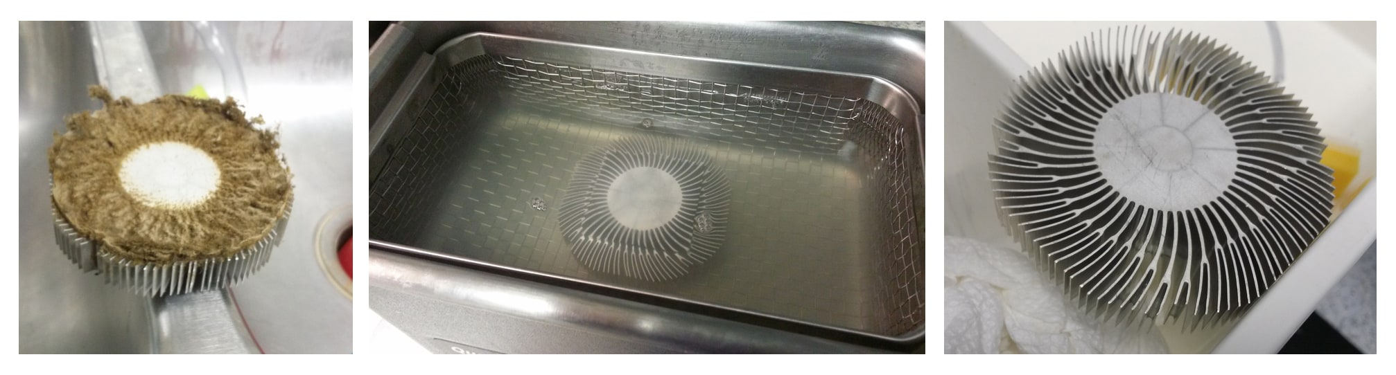 Nettoyage par ultrasons d'un ventilateur de cpu PC