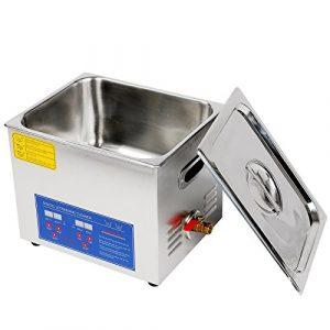 jakan ménage équipement Nettoyeur à Ultrasons en acier inoxydable, Acier inoxydable, gris, 10L Digital