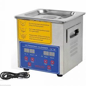 jakan ménage équipement Nettoyeur à Ultrasons en acier inoxydable, Acier inoxydable, gris, 2L Digital