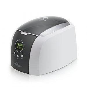 LifeBasis Nettoyeur Bac à ultrasons numérique 700ML Cuve en acier inoxydable et Minuterie Numérique pour bijoux, CDs, montres, lunettes etc