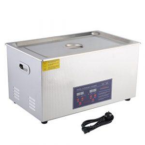 Poncherish Nettoyeur à Ultrasons Professionnel Bac INOX 30L Machines de Nettoyage à Ultrasons EU Plug pour Nettoyer Bijoux Lunettes Dental