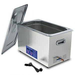 Jakan Nettoyeur à ultrasons en acier inoxydable avec appareil de nettoyage à ultrasons pour voiture 40 KHz Pour pièces de moteur électronique