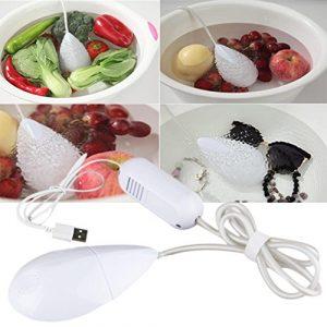 Nettoyeur à Ultrasons Mini Machine à Laver Bulle USB Appareil Nettoyeur Domestique pour Nettoyage Bijoux Lunette Fruit Légume