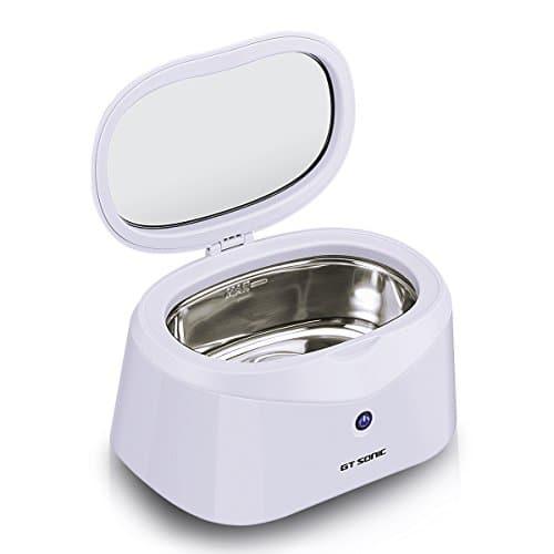 GT SonicNettoyeur à ultrasons professionnel pour bijoux, lunettes, montres Transducteur en acier inoxydable 40kHz de haute puissance avec arrêt automatique 600ml Blanc