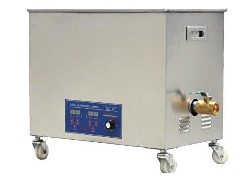 MXBAOHENG Ks-100hal Industriel Commercial Haute fréquence Nettoyeur à ultrasons Ultrasons Machine de Nettoyage avec Panier 80kHz 30L, 110V