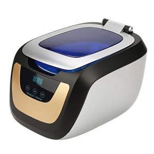 Nettoyeur à Ultrasons Appareil, 750 ml Numérique Nettoyage à Ultrasons de Commande Tactile pour Lunettes Bijoux CD Montre
